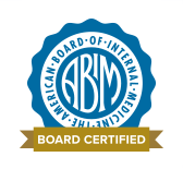 Certification badge from the American Board of Internal Medicine